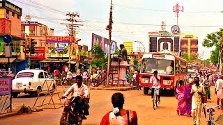 Driving Around Thanjavur City, Tamil Nadu - India 2014 HD