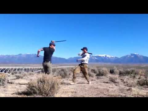 Filipino Kali Training | LIVE BLADES at Taos, New Mexico