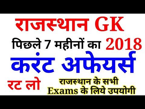 Rajasthan Current Gk Pdf