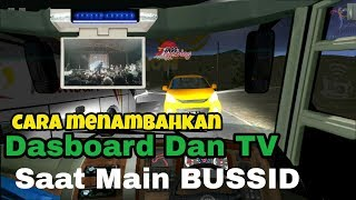 Baixar Cara menambahkan Dhasboard dan TV di Bussid