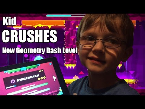 7 Year Old CRUSHES New Geometry Dash 2.1 Level