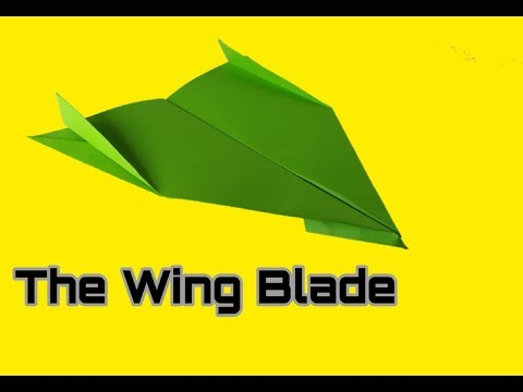 How To Make Paper Airplane - Easy Paper Plane Origami Jet For Kids | Wing Blade