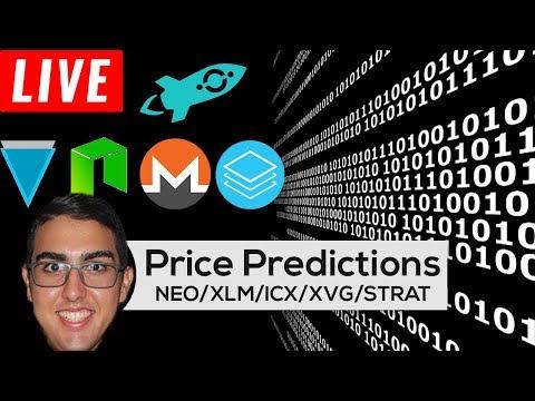 Price Predictions: NEO ($NEO), Monero ($XLM), ICON ($ICX), Verge ($XVG), Stratis ($STRAT), & More!