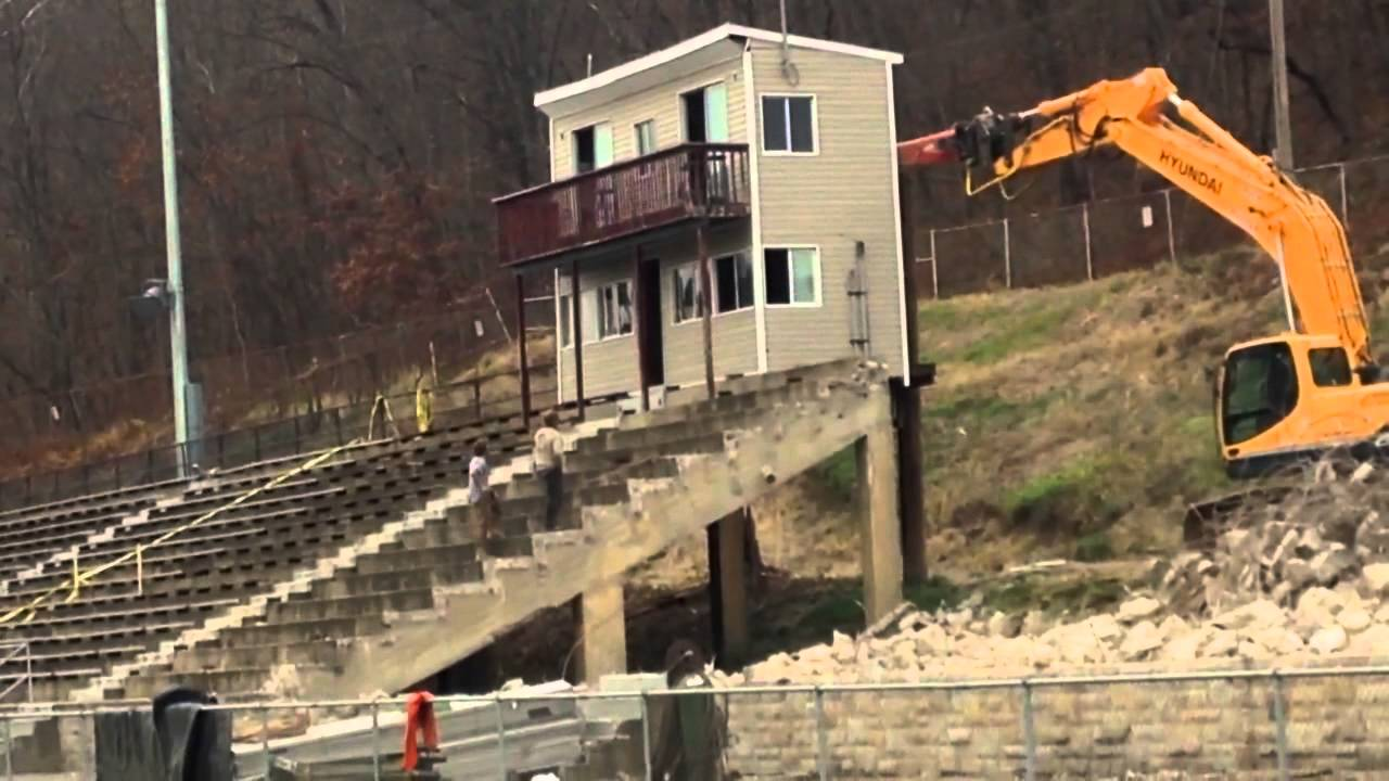 Beaver Area High School Press Box Gets Torn Down Youtube