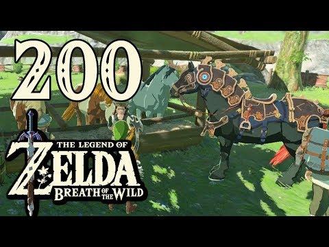 [200] Zelda: Breath Of The Wild - Ancient Horse Gear! (Champions Ballad DLC) - Let's Play (Wii U)