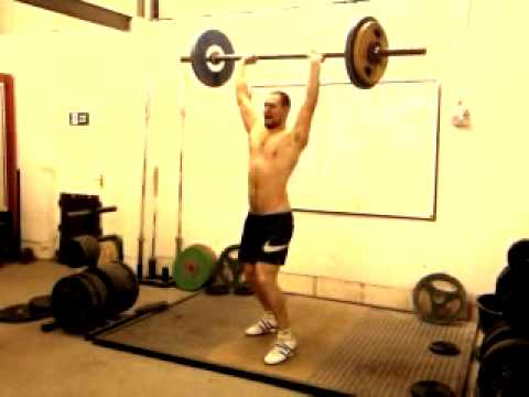 Iron Age Gym 105.5kg Axle Press Personal Best