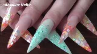 PEACHES AND DREAM CANDY LAND GLOW - ACRYLIC NAILS | ABSOLUTE NAILS