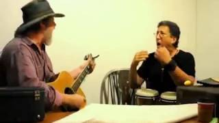 """Duane Thorin with Bohemian Soul Rustler Michael Puccini rehearsing """"What's Going On"""""""