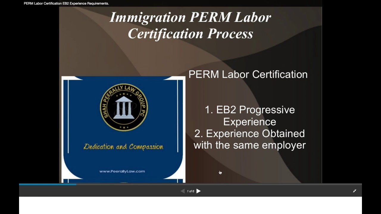 Perm Eb2 Progressive Experience And Substantially Comparable
