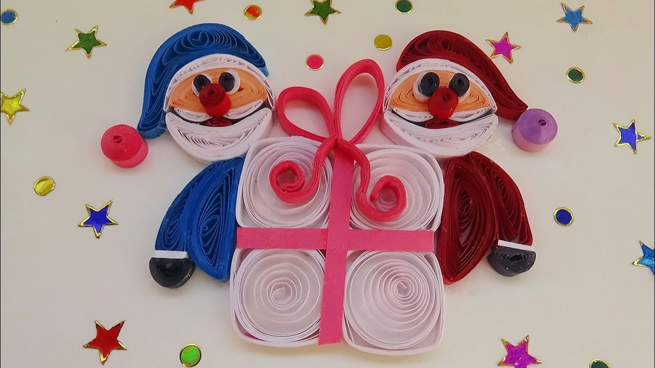 Paper quilling how to make quilling santa merry christmas paper quilling how to make quilling santa merry christmas gift greeting card youtube m4hsunfo