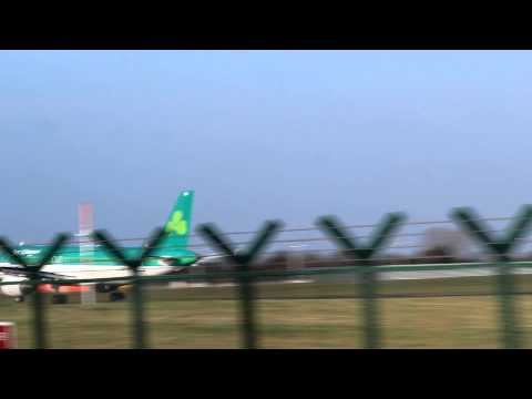 Dublin Airport Takeoffs and Landings in strong winds on 2015-01-15 (Part 1)