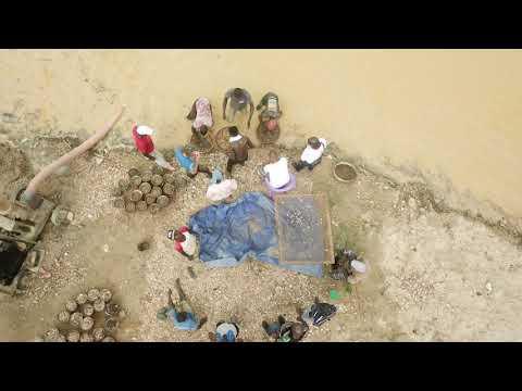 MAX BRANDWAIN DIAMOND PROJECT 2020 PLUTO MINING KONO SIERRA LEONE WEST AFRICA. POCKET TV