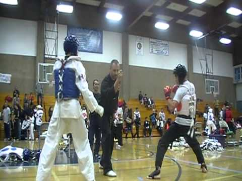 BSBN Chris Poma Jr TKD tournament 12/11/11 Sparrin...
