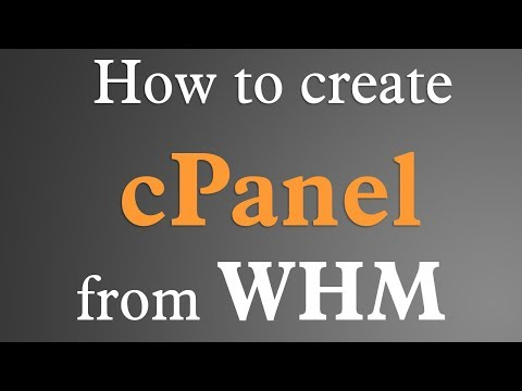 Create cPanel from WHM - EASY!