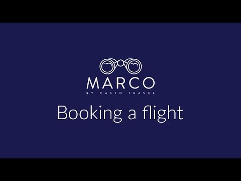 Marco: Booking a flight and viewing purchase details