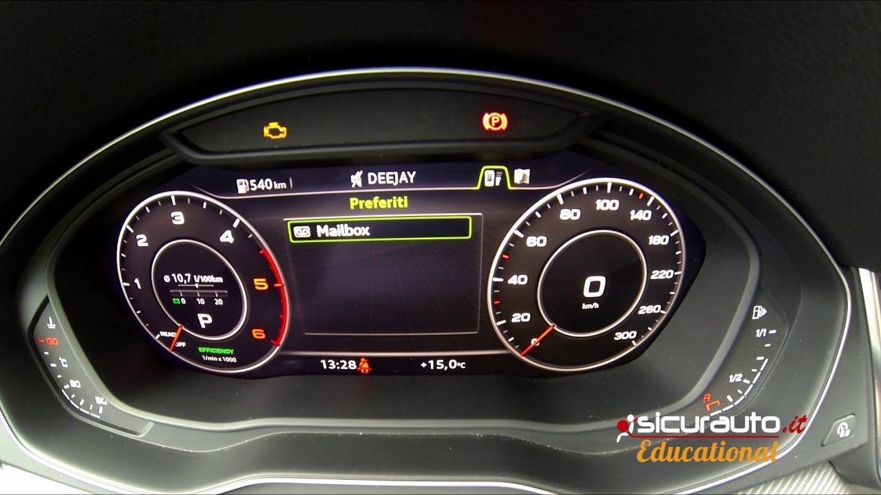 Audi Q5 2017: tutorial sul Virtual Cockpit, la strumentazione digitale - YouTube