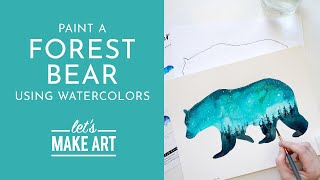 Let's Paint a Forest Bear | Watercolor Tutorial with Sarah Cray