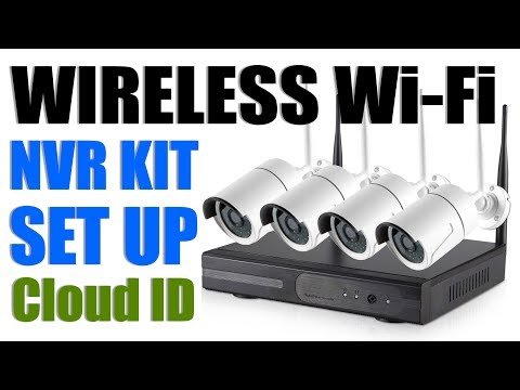 Wi-Fi Wireless NVR Kit Unboxing and Setup / 4Channel Camera Installation / Security system / K9604-W