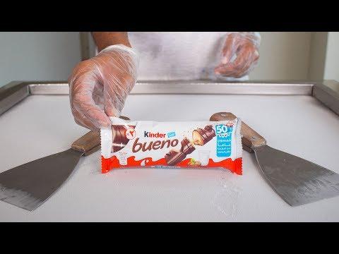 KINDER BUENO ICE CREAM ROLLS - SATISFYING ASMR