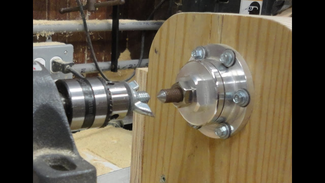 Live Center Tailstock Homemade From Bicycle Wheel Hub Torno