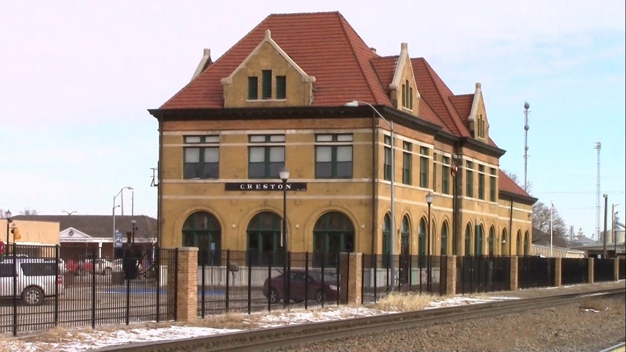 Very Nice 3 Story Railroad Station Building In Creston Iowa