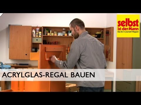 acrylglas regal bauen youtube. Black Bedroom Furniture Sets. Home Design Ideas
