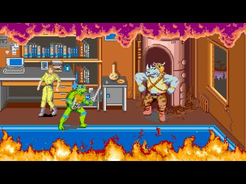 Teenage Mutant Ninja Turtles: The Arcade Game Longplay (Arcade) [60 FPS]