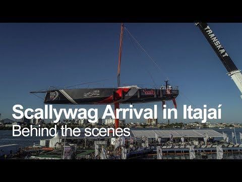 Behind-the-scenes of Scallywag's arrival | Volvo Ocean Race