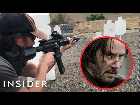 How Keanu Reeves Learned To Shoot Guns For 'John Wick' | Mov