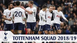 ⚽ TOTTENHAM HOTSPUR SQUAD 2018/19 ALL PLAYERS - TOTTENHAM TEAM OFFICIAL