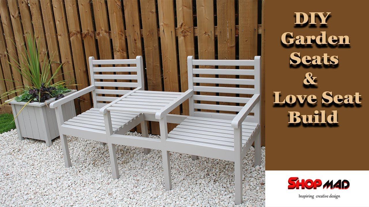 Make outdoor Garden Seats And A Love Seat/ DIY Build