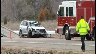 5/3/2013 Major crash shuts down Interstate 94 south of Saint Cloud, MN