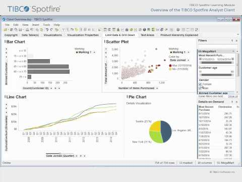 Overview of the TIBCO Spotfire Analyst Client - YouTube