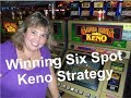 Four Card Keno Winning Six Spot Strategy - Fast Setup On The Fly In The Casino