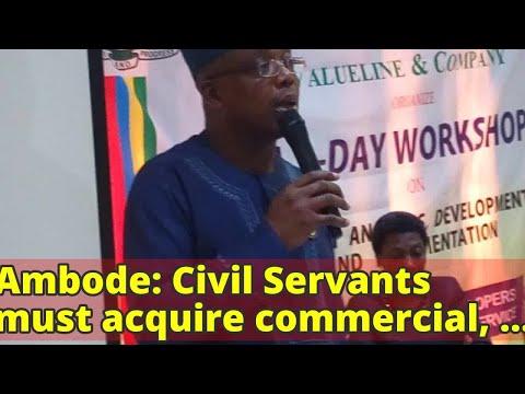 Ambode: Civil Servants must acquire commercial, behavioural skills