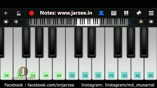 Aashiqui Mein Teri Piano Tutorial | Easy Mobile Perfect Piano Tutorial | Jarzee Entertainment