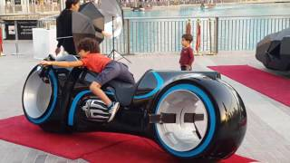 Batcyle & Batmobile at Burj Khalifa in Dubai 25.12.2016