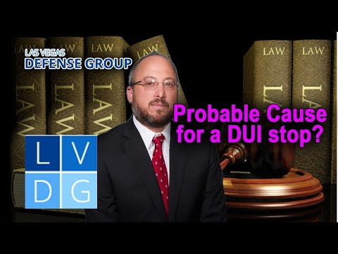 Do police need probable cause for a DUI stop?
