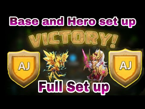 HBM - AJ | Victory 😎😎😎 | Full Hero Set Up And Base Detail | Castle Clash