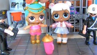 Куклы Лол Сюрпризы! Вечеринка Босса Молокососа закончилась в Полицейском участке Lol Мультик