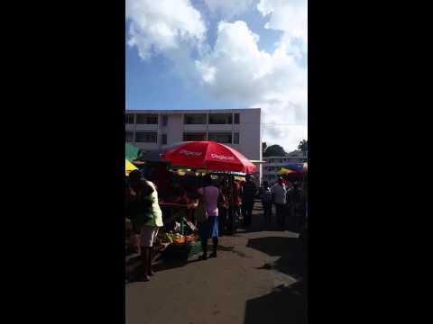 Farmers Market downtown st. Lucia