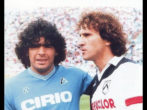 Zico Vs Maradona - Udinese x Napoli 1985