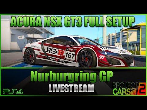 project cars 2 acura nsx gt3 full race setup nurburgring gp livestream youtube. Black Bedroom Furniture Sets. Home Design Ideas