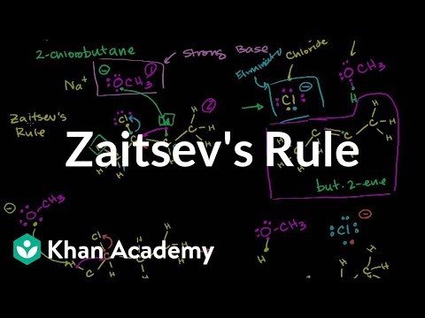 Zaitsev's rule | Substitution and elimination reactions | Organic chemistry | Khan Academy