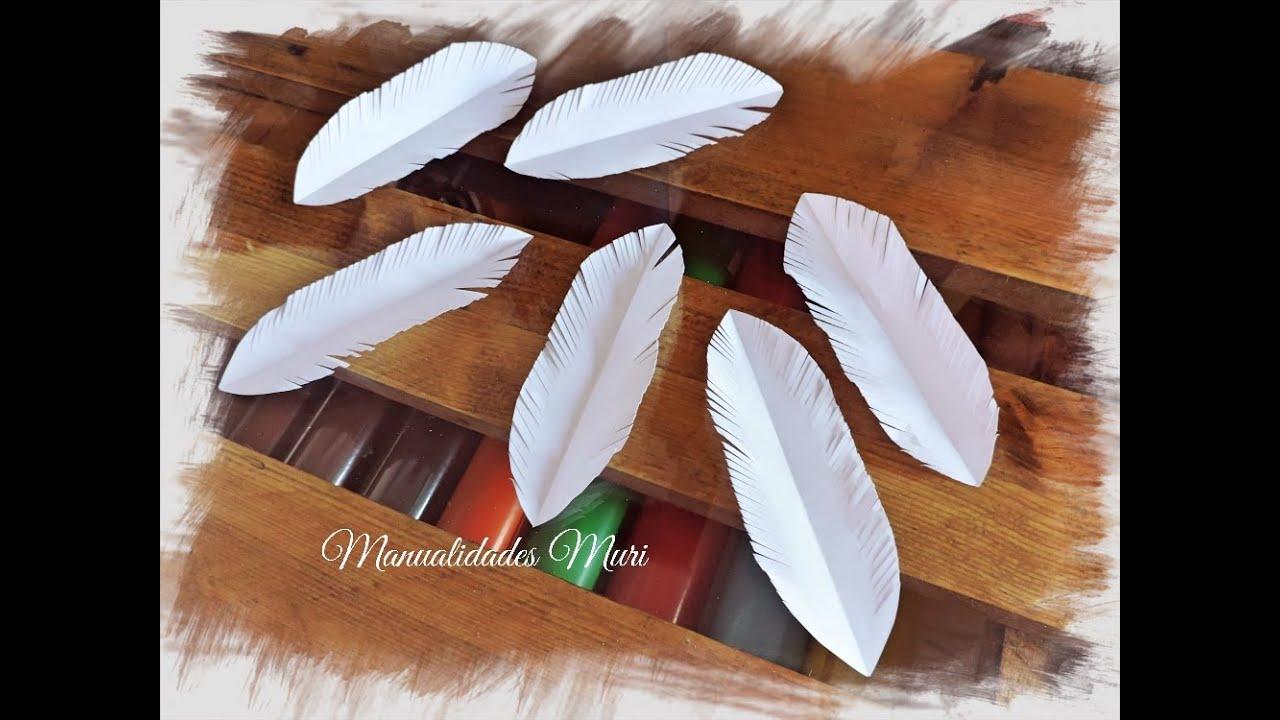 Manualidades como hacer plumas de papel youtube - Manualidades de papel reciclado ...