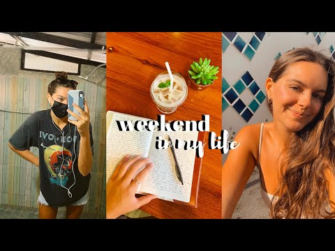 weekend in my life! | cafe, saturday night market, pool days, trying boba, & more!