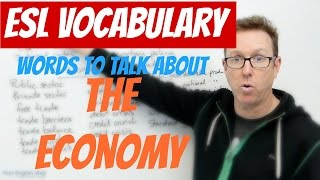 English lesson - Words to talk about THE ECONOMY - palabras en inglés