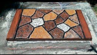 Como Hacer unos Adoquínes de cemento Pavers con Diseño a Mano Aparentado Estampado