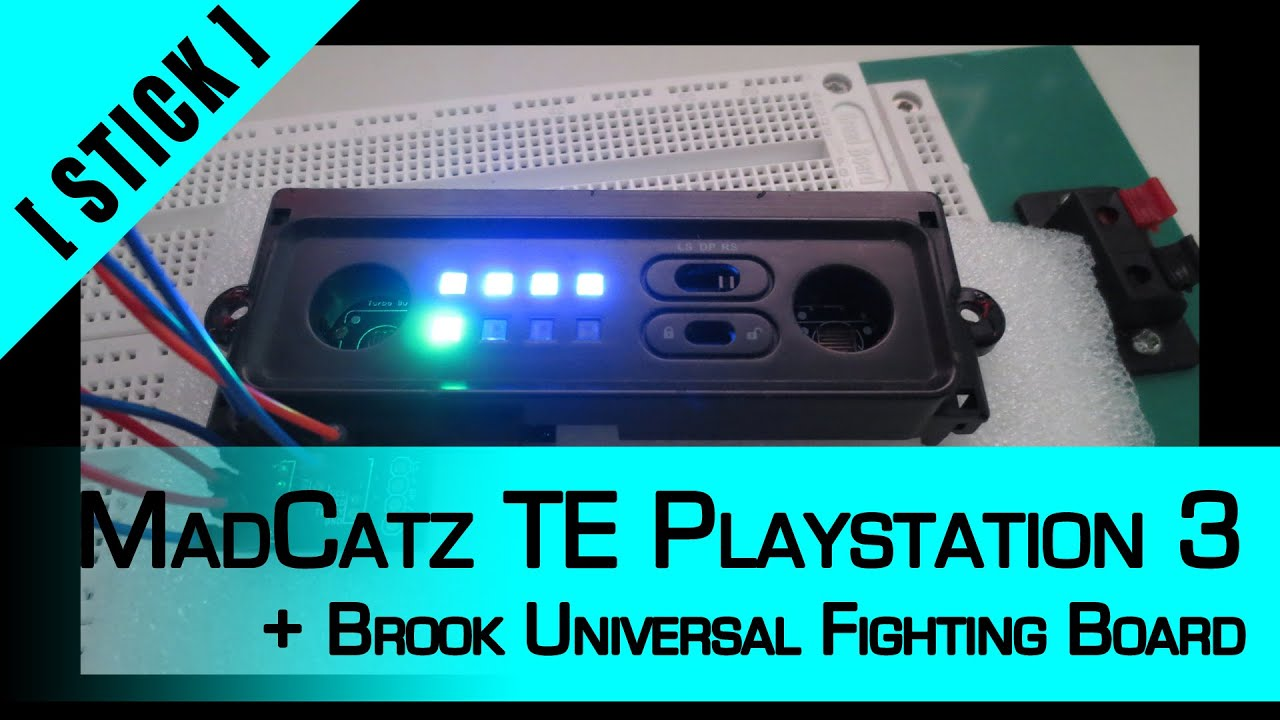 arcade stick mod part 7 madcatz te playstation 3 brook universal fighting board [ 1280 x 720 Pixel ]