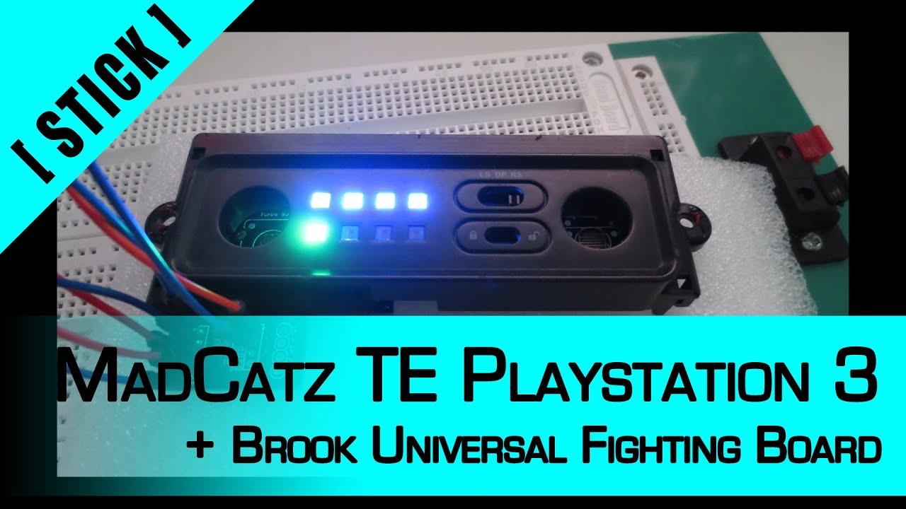 Arcade Stick Mod] Part 7: MadCatz TE Playstation 3 + Brook Universal ...